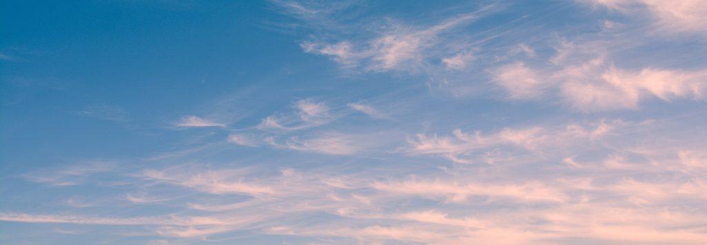 sky with wispy clouds