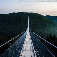 Thin suspension bridge