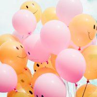 happy and sad balloons