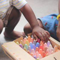 children and chalk