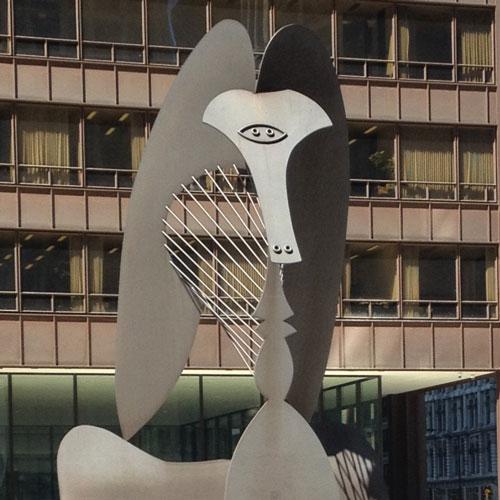 Picasso Thumb statue