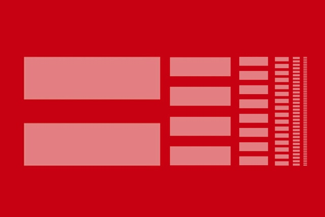 pink rectangles on red background