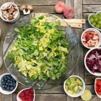salad bowl and toppings for mindful eating