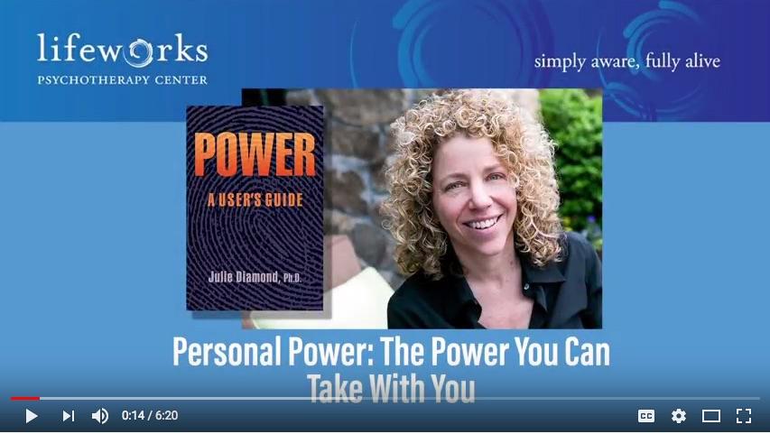Julie Diamond, Personal Power