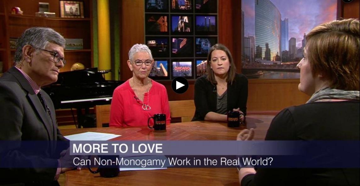 Rami Henrich being interviewed regarding non-monogamy