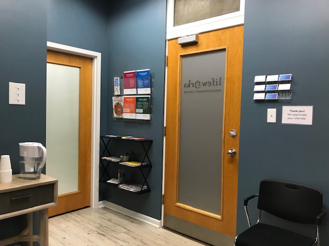Lakeview office reception area