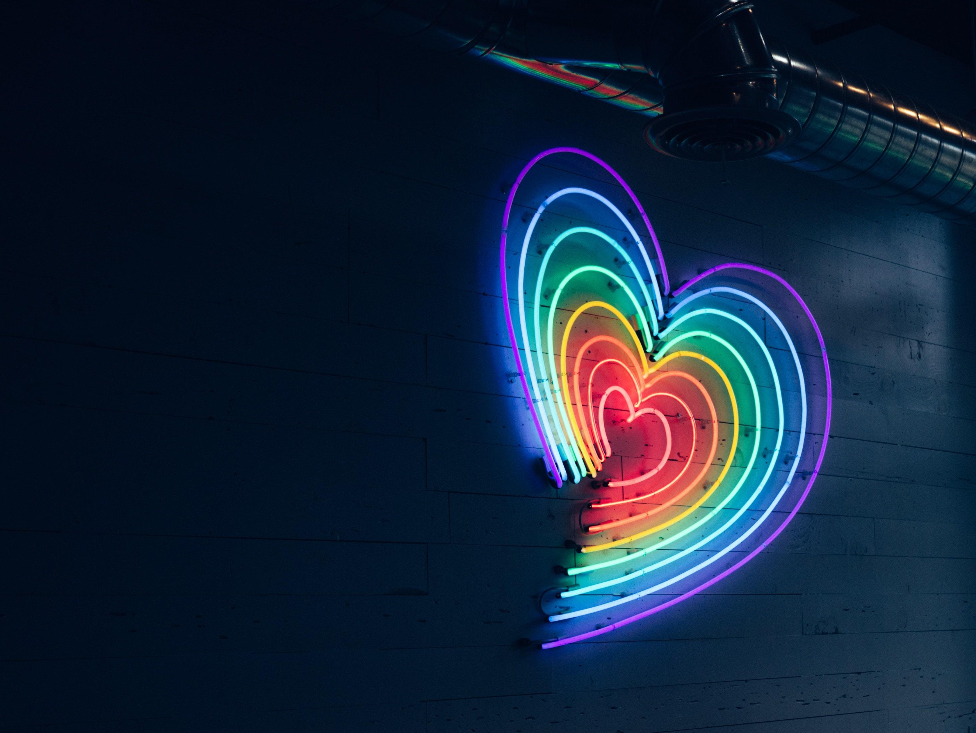 rainbow heart for alternative valentine's day