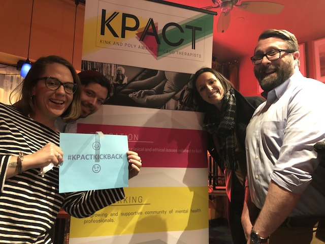 Poly and Kink Aware Chicago Therapists Enjoying the KPACT Kick Back