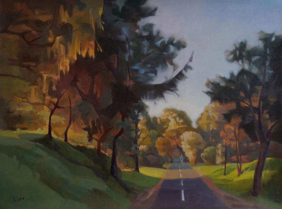 Painting of a landscape by Lynn Lobo