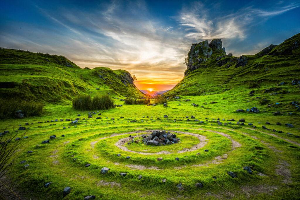 an ancient labyrinth